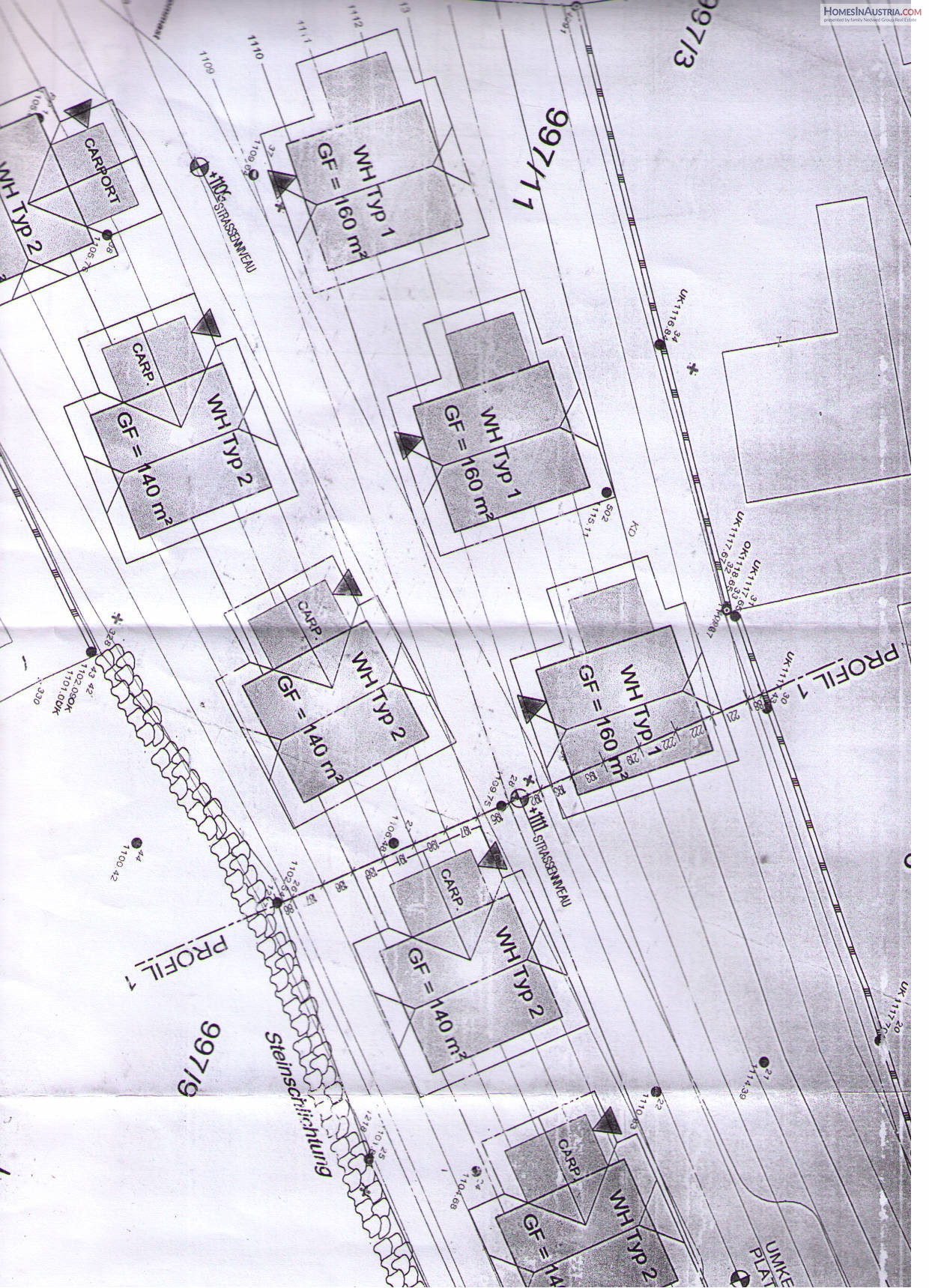 Plass, Ebene Reichenau, large buildable lot with plan for 8 homes