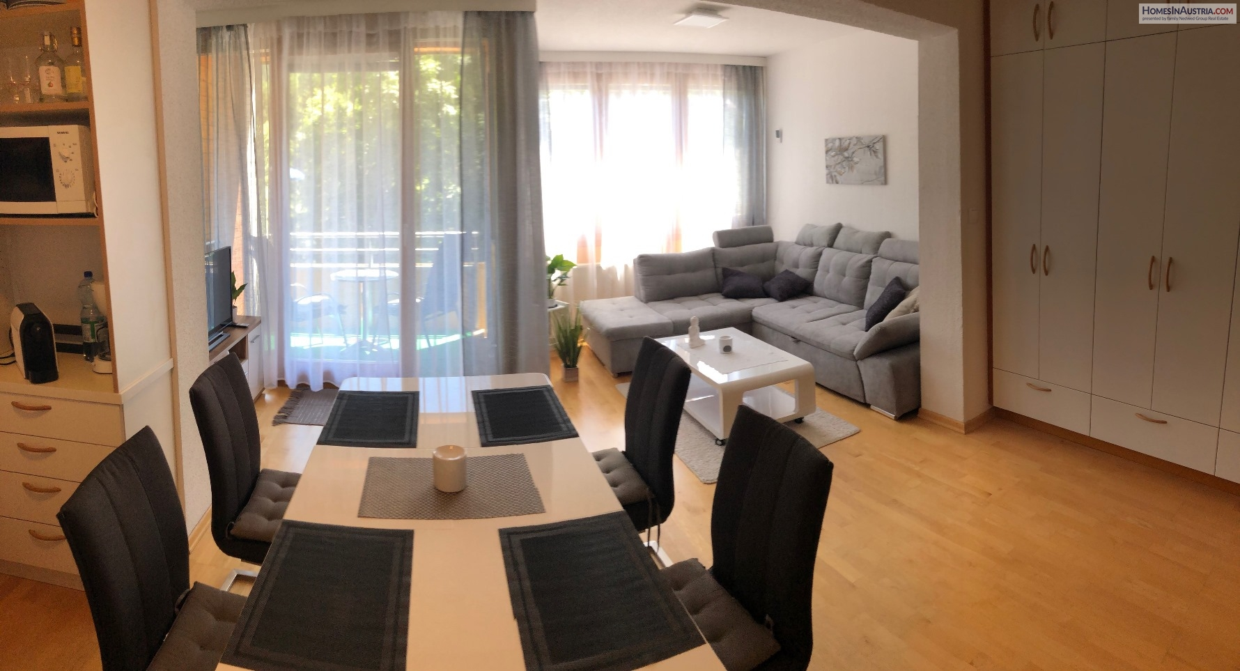 Bad Kleinkirchheim, Carinthia, Apartment approx 56m2 (ZENTRAL 10) sunny, central location, balcony, garage
